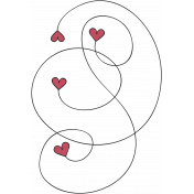 A Mother's Love- Heart Swirl Doodle 4- Red and Black