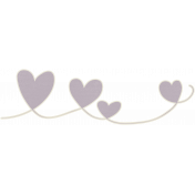 A Mother's Love- Heart Header Doodle- Purple