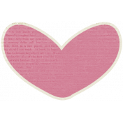 A Mother's Love- Pink Heart #3 With Text