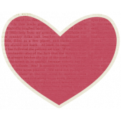 A Mother's Love- Heart Doodle 1 With Text- Red