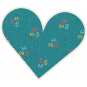 A Mother's Love- Hea Swirl Doodle 7- Blue With Flowers
