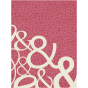 A Mother's Love- Journal Card- Ampersand- Pink