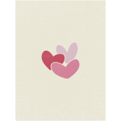 A Mother's Love- Journal Card- Hearts