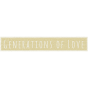 A Mother's Love- Word Snippet- Generations of Love