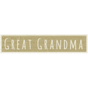 A Mother's Love- Word Snippet- Great Grandma