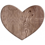 A Mother's Love- Wood Heart 1