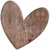 A Mother's Love- Wood Heart 2