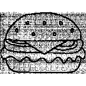 Burger Doodle Template 001