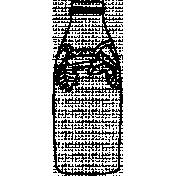 Bottle Doodle Template 003
