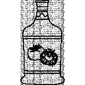Bottle Doodle Template 004