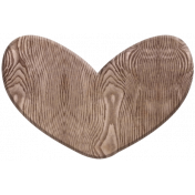 A Mother's Love- Wood Heart