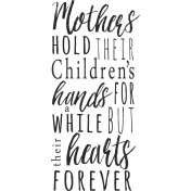 A Mother's Love- Word Art Phrase- Hands
