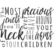 A Mother's Love- Word Art Phrase- Jewels