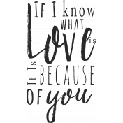 A Mother's Love- Word Art Phrase- Love Is