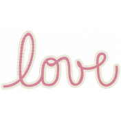 A Mother's Love- Love Word Art