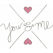 A Mother's Love- You and Me Word Art