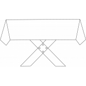 Picnic Table Doodle Template 001