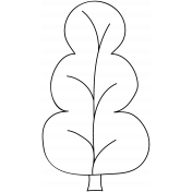 Tree Doodle Template 009