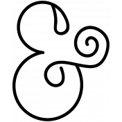 Ampersand Doodle Template 005