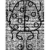 Ladybug Doodle Template 003