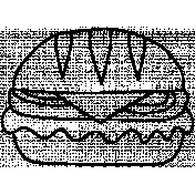 Burger Doodle Template 002