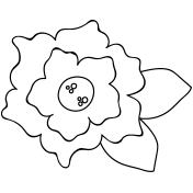 Flower Doodle Template 040