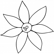 Flower Doodle Template 042