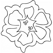 Flower Doodle Template 044