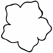 Flower Doodle Template 047