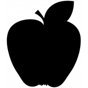 Apple Shape Mask Template 001