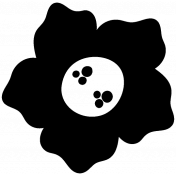 Flower Shape Mask Template 009