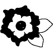 Flower Shape Mask Template 011