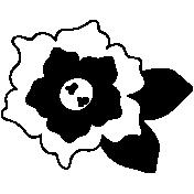 Flower Shape Mask Template 012