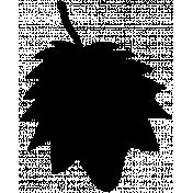 Leaf Shape Mask Template 003
