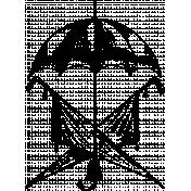 Umbrella Stamp Template 001