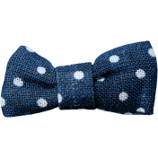 Picnic Day- Blue Fabric Bow