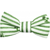 Picnic Day- Green Fabric Bow