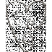 Picnic Day- Heart Clip