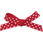 Picnic Day- Red and White Polka Dot Bow