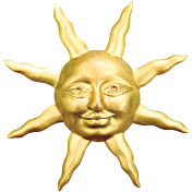 Picnic Day- Sun Brooch