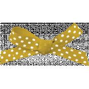 Picnic Day- Yellow Polka Dot Bow