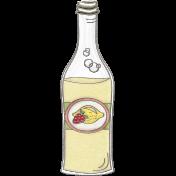 Picnic Day- Strawberry Lemon Soda Bottle Doodle