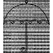 Umbrella Doodle Template 003