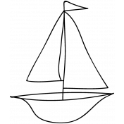 Boat Doodle Template 002