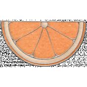 Picnic Day- Orange Half Slice Doodle