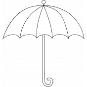 Umbrella Doodle Template 004