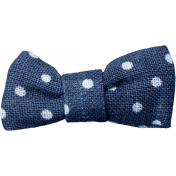 Blue Skies & Lemonade Mini- Blue Bow