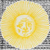 Blue Skies & Lemonade Mini- Sun Sticker