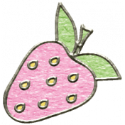Summer Day- Pink Strawberry Doodle
