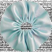 Summer Day- Blue Fabric Flower
